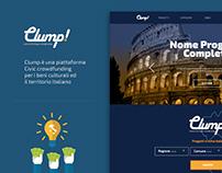 Clump! - Crowdfunding website