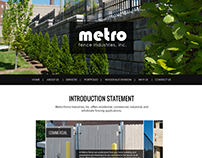 Metrofence Mockups and Sitemap