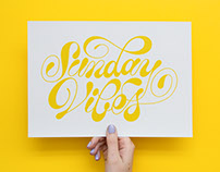 Sunday Vibes Lettering