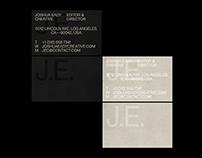 Visual Identity — Joshua Eady (J.E.)