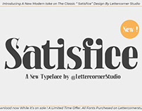 Free Satisfice Serif Font
