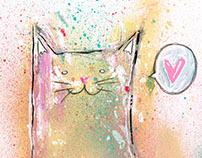 Un gato enamorado