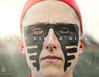 Play Like A Girl - Ohio State Buckeye Lacrosse Poster