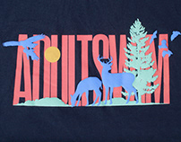 Adult Swim Nature Puff Print T-Shirt