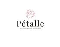 Feminine logo for Pétalle natural skin care and perfume