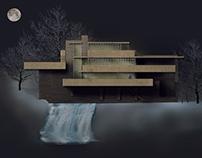 Fotomontaje Casa de la Cascada - 2º de carrera