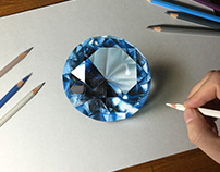 Drawing Blue Gemstone