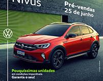 Posts de lançamento VW Nivus na Abrão Reze