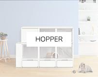 HOPPER · Modular Indoor Rabbit Home