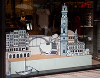 Brand Activation * window display for Clérigos IN store