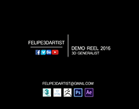 FELIPE3DARTIST - DEMO REEL 2016
