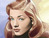 Portrait of Lauren Bacall