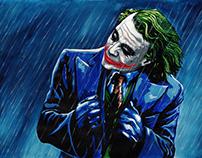 Watercolor art The Joker