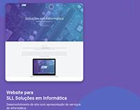 Website para SLL Soluções em Informática