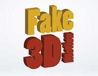Fake 3D Motion graphics Project