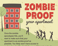 Zombie-Proof Your Apartment Infographic