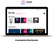 MacOS Sierra iTunes Redesign Concept