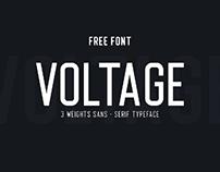 FREE FONT - VOLTAGE SANS-SERIF