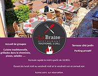 Restaurant La Braise - Postal mailing