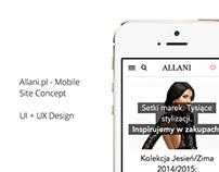 Allani.pl — Mobile Site Concept
