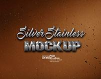 Silver Stainless Mockup DMR STUDIOS