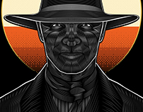 Westworld (The Man  in Black)- Vector Poster