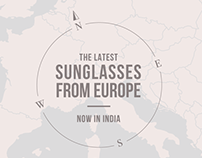 Sunglasses From Europe Leaflet/Banner Design