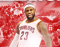 LEBRON JAMES ARTWORK POSTER AND MAGAZINE LAYOUT