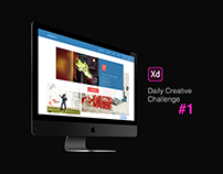 XD Daily Creative Challenge #1 Event Web Page