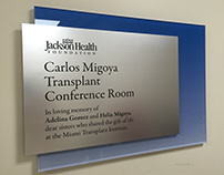 Jackson Health custom designed donor recognition plaque
