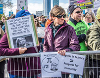 March for Science. Photojournalist Art view