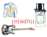 LIFE and STYLE magazine / SPOT section illustrations