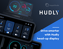 Hudly - Mobile App and Head-up Display