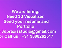 Need 3d Visualizer. Send your resume