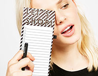 Shopping list for Bershka Stationary collection
