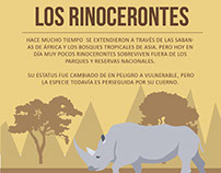 Infografía de rinocerontes