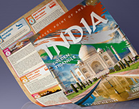 A4 Flyer for Travel Company. India Tour