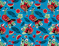 Peacock and Watermelon Pattern Designs
