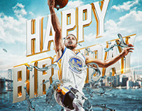 [NBA Social] Stephen Curry Birthday Graphic