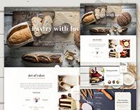 Bakery PSD website template