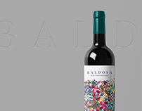 VENDIMIAS & BALDOSA Wine label design