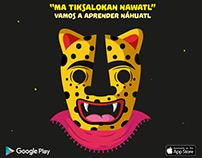"App ""Vamos a aprender Náhuatl"" Ma tiksalokan nawatl"