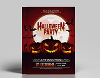 Diy Halloween party invitation Template