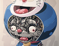 MECHASOUL DORAEMON ART PRINT