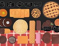 SWEET FOOD ILLUSTRATIONS