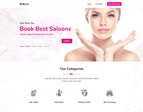 Landing Page Design For Spa and Salon