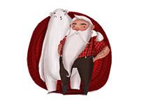 Santa and bear