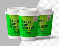 Paper Cup Mockup PSD - FREE