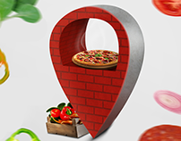 Billboard design for Domino's Pizza Azerbaijan
