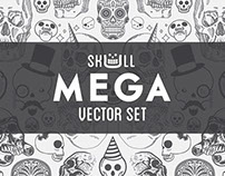 Skull Mega Vector Set